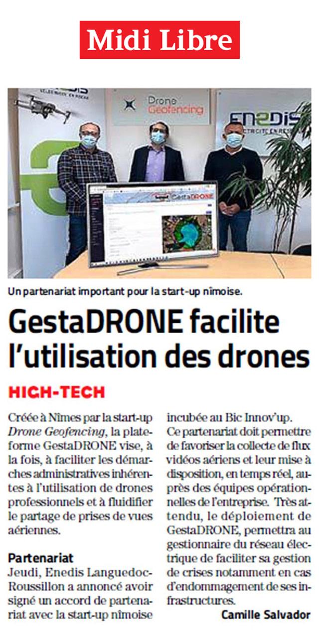 logiciel gestadrone par drone geofencing